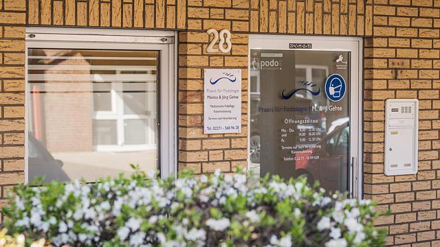 Außenansicht Praxis für Podologie Gehse in Bergheim-Quadrath